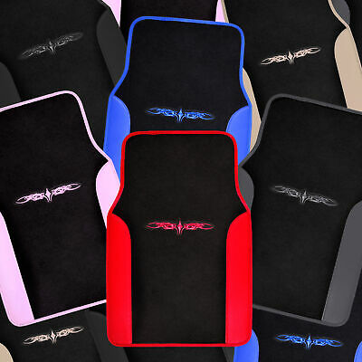 Back Seat Floor Mats - Car Floor Mats 4 Pieces Set Carpet Rubber Backing All Weather Protection
