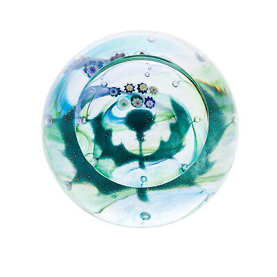 Caithness Glass U19052 Scottish Mille Thistle Paperweight