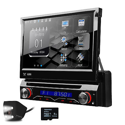 "1DIN 7"" Touch Flip Out GPS Navigation Bluetooth DVD/CD Receiver Car Stereo Radio on Rummage"