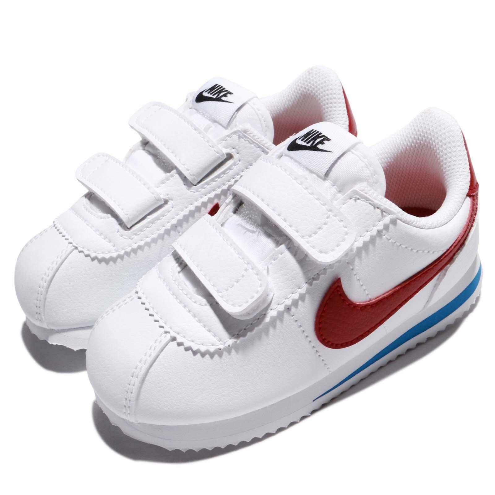 Nike Cortez Basic SL TDV OG Forrest Gump White Red Toddler I