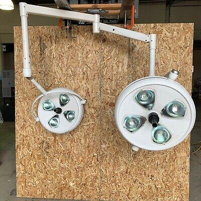 Skytron If54 Infinity Surgical Surgery Examination Lights Lighting Pair W Base