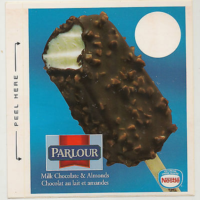 - Nestle Parlour Bar, Milk Chocolate & Almonds, Ice Cream Truck Decal/Sticker