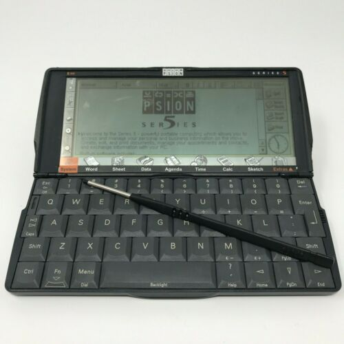 Psion Series 5 Palmtop 8MB Computer PDA with Stylus - TESTED Working Condition