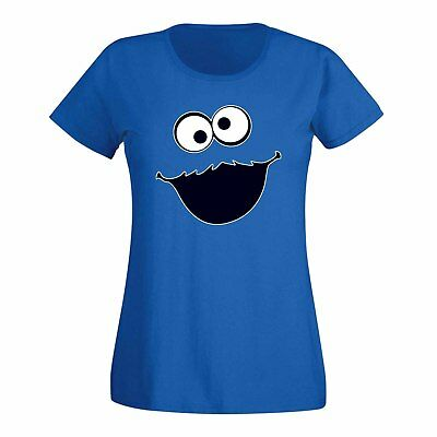 T-Shirt Krümelmonster ohne Keks Karneval Party Kostüm Sesamstraße - Monster Kostüme Damen