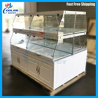 60 Bakery Showcase Donuts Bagels Pastry Dry Glass Display Case Counter Top New