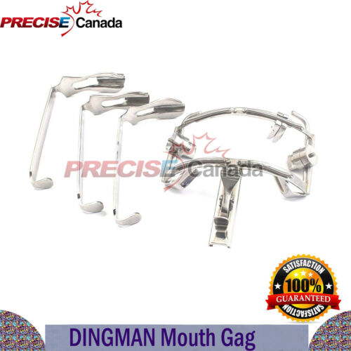 Dingman Mouth Gag Comes With 3 Blades Dental ENT Surgical Retractor Instruments