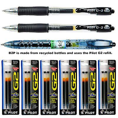 Pilot G2 0.38mm Ultra Fine Pens With Refills Black Gel Ink 9-piece Assortment