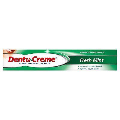 Dentu-Creme Denture Cleansing Toothpaste Fresh Mint 75ml - 6 Pack
