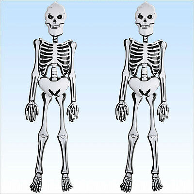 2 x Skelett aufblasbar 1,52m 3D  Zubehör Deko für Halloween und Faschingskostüme ()