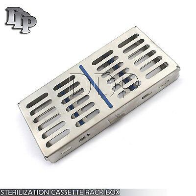 Stainless Steel 7 Pcs Dental Instruments Tray Cassette Sterilization Box