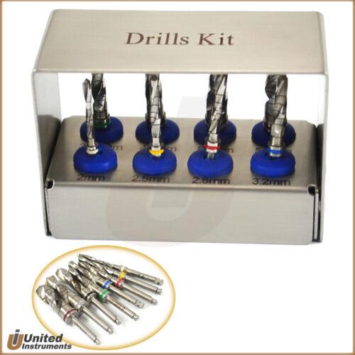 8 Pcs Dental Implant Mini Trephine Drill Kit Silver Grafting Tissue Surgical Set