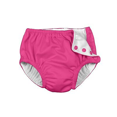Reusable Swim Diapers Rash Prevention Ultraviolet Protection Hot Pink Color 3T