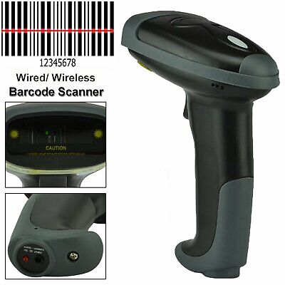 Wireless Bluetooth 2.4g Barcode Scanner Handheld Usb Rechargeable Receiver Laser