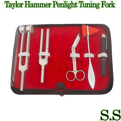 5 Pcs Reflex Percussion Taylor Hammer Penlight Tuning Fork C 128 C 512 5.5