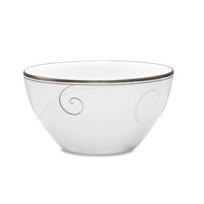 Noritake Platinum Wave Rice Bowl Set Of 4 Wave Rice Bowl