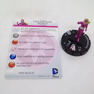 DC HEROCLIX WAR OF LIGHT COMMON STAR SAPPHIRE RECRUIT 006 WITH CARD