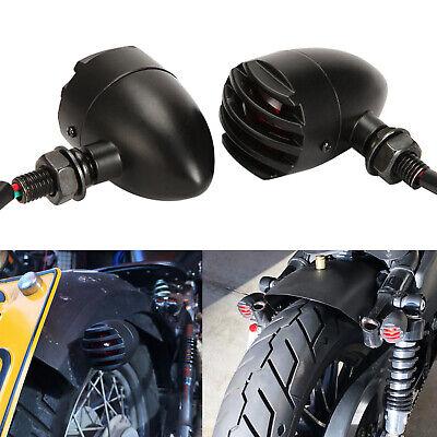 Red Motorcycle Turn Signals Indicator Lights For Bobber Honda Shadow Kawasaki Vu