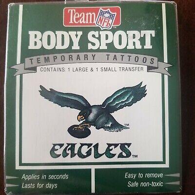 TEAM NFL FOOTBALL BODY SPORT TEMPORARY TATTOOS SET VINTAGE PHILADELPHIA EAGLES ](Philadelphia Eagles Tattoos)