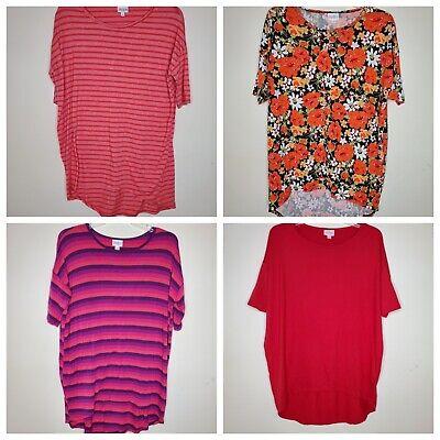 Lularoe Irma XS Pink Stripe, Orange Floral, Pink and Purple Stripe or Red - Orange And Pink
