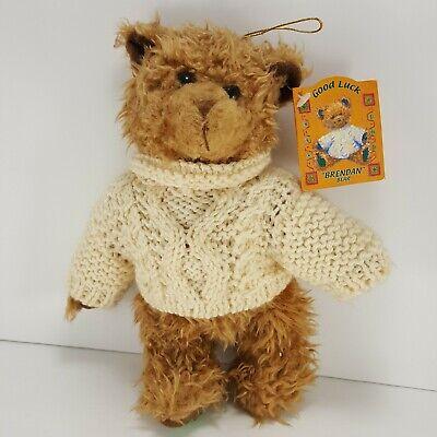 Brendan Teddy bear Good Luck Plush St. Patricks day jointed leprechaun Shamrock ()