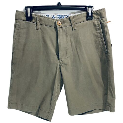 $98 Tommy Bahama Mens Offshore Chino Shorts Clove Floral Waist 30 Golf Beach Clothing, Shoes & Accessories