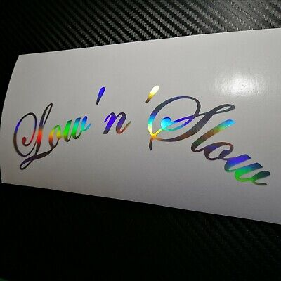 OIL SLICK Low'n'Slow Car Sticker Decal JDM VDUB Stance Lowered Bag Air Static