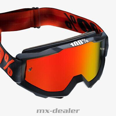 100 % Prozent Accuri 2020 Gunmetal verspiegelt MX Motocross Cross Brille BMX MTB