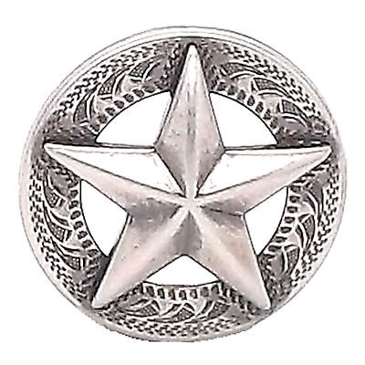 "Texas Star Antique Silver Screwback Concho 1-1/4"" 11373-41"