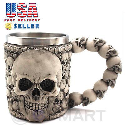 Skeleton Skull 3D Skeleton Tankard Mug Cup Coffee Beer Pirate Gothic Halloween - Halloween Skull Cups