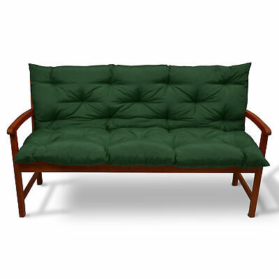 Beautissu Garden Bench Pad Cushion 120 x 50 x 50 cm 2 Seater Dark Green