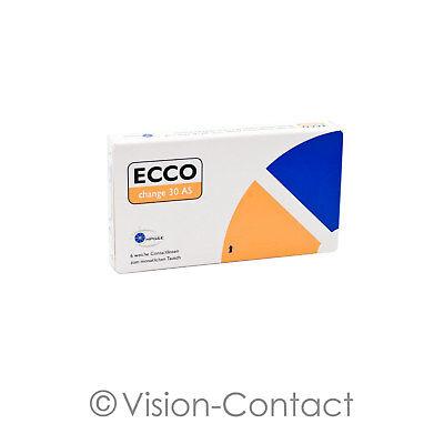 Ecco Change 30 AS 1 x 6 sphärische Kontaktlinsen Monatslinsen von MPG&E