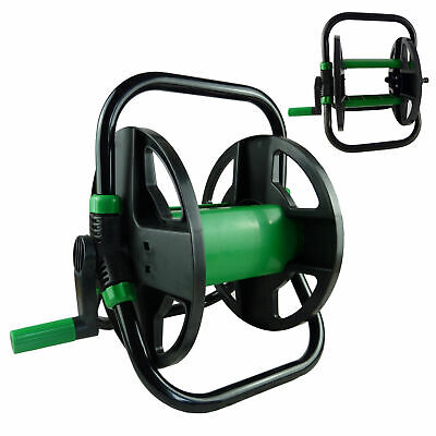 30M GREEN BLADE PORTABLE HOSE REEL COMPACT WATER PIPE TROLLEY CART HOLDER GARDEN