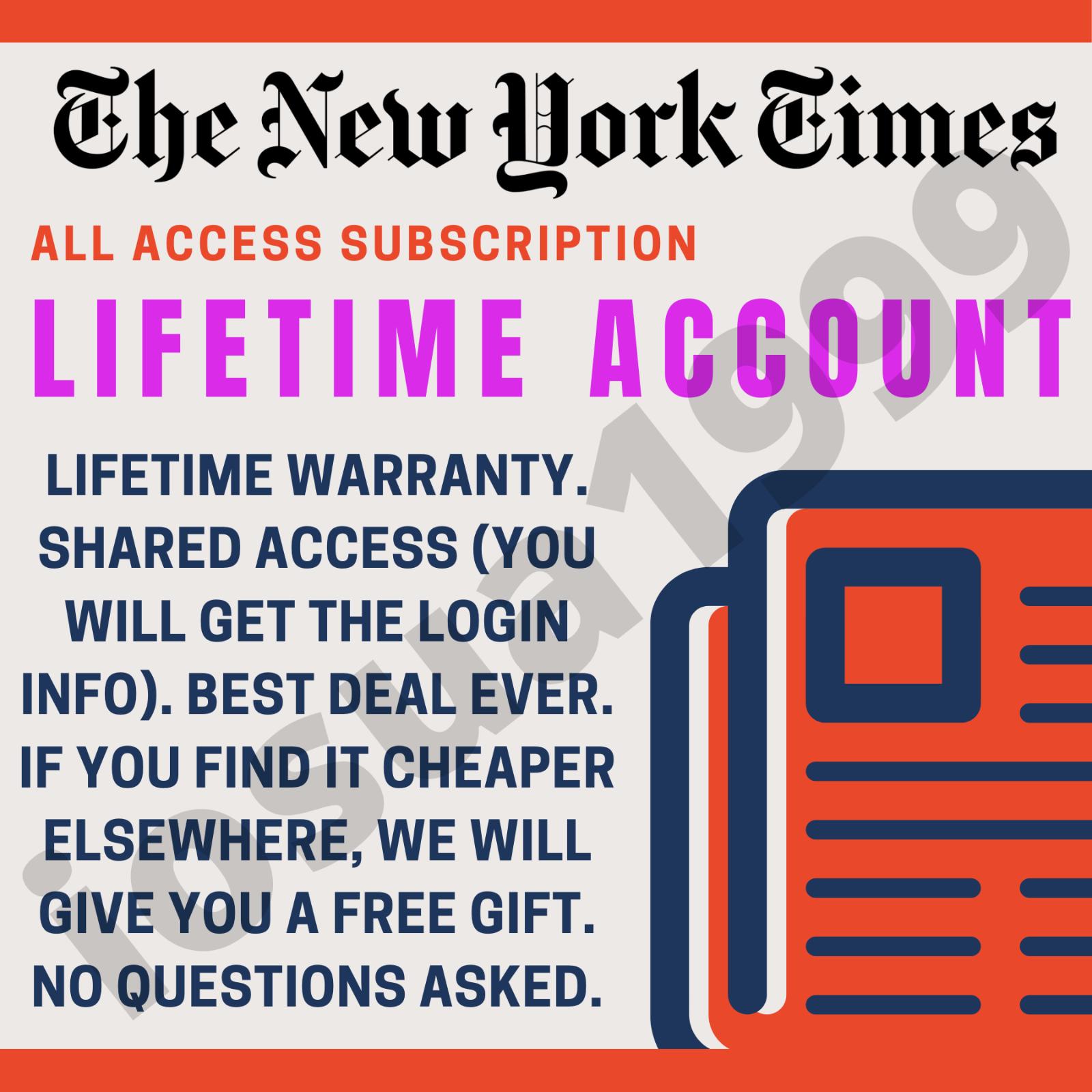 Купить The New York Times Lifetime Digital Account Access Subscription + $50 Free GIFT!