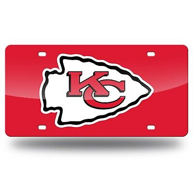 NFL Kansas City Chiefs Logo Custom Nummernschild