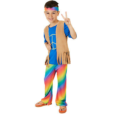 Jungenkostüm Boy Peacemaker Karneval Fasching Halloween Junge Kinder Hippie 70er