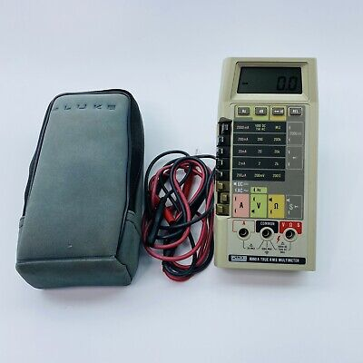 Fluke 8060a Digital Multimeter With Leads And Case Tested Works 028