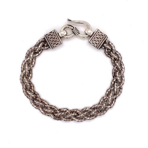 "Designer Estate Sterling Silver Braided Mesh 6 ½"" Bracelet! 192"