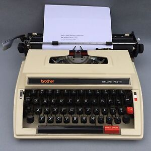 Brother Deluxe 762TR Portable Typewriter. Whyalla Whyalla Area Preview