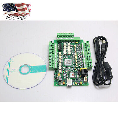 Cncmach3 Usb 4 Axis Stepper Motor Controller Motion Card 0-10v Breakout Board Xs