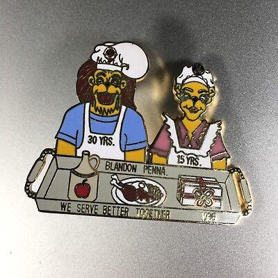 Blandon Penna Lions Club Pin District Brass Collectible Lapel Pin 1986
