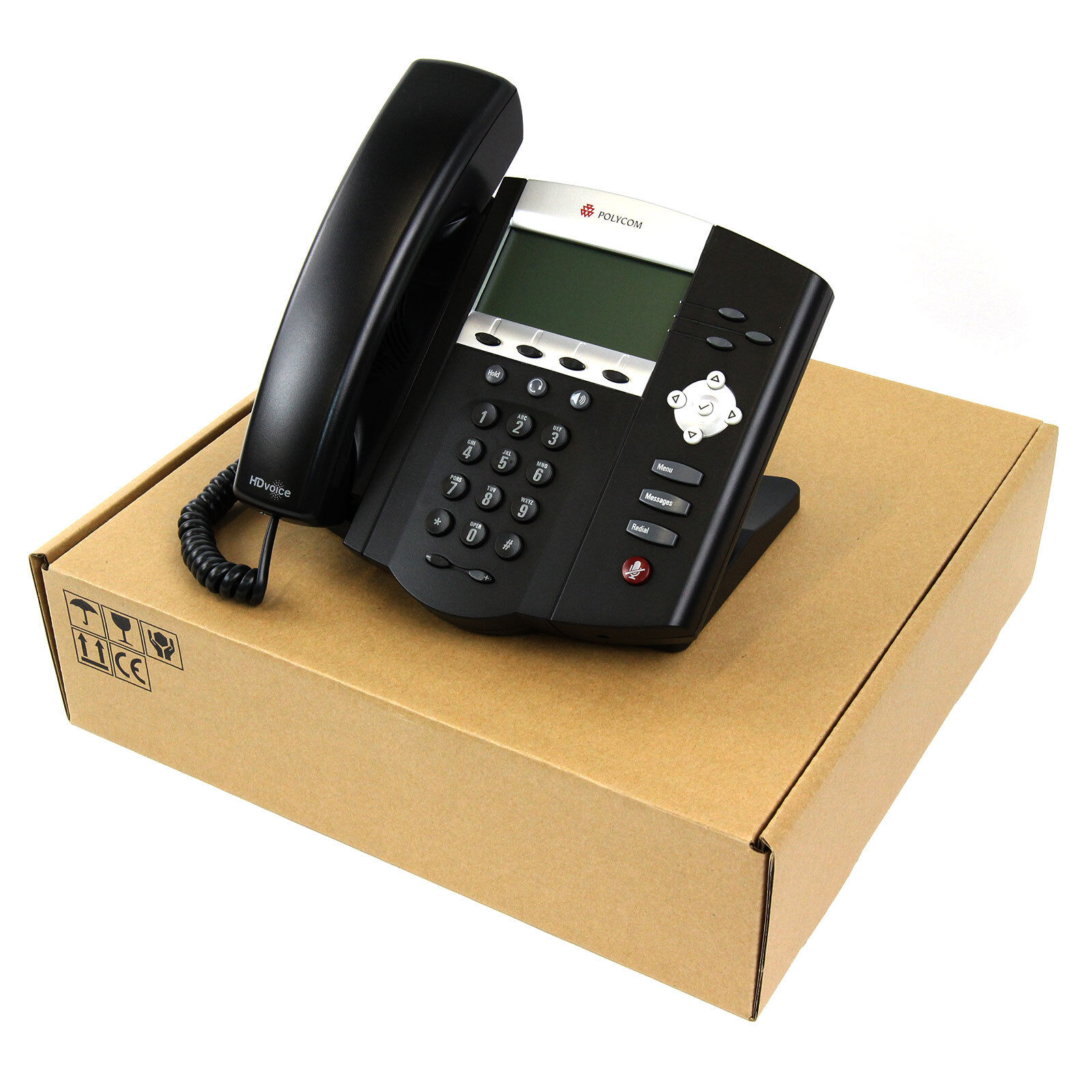 Polycom Soundpoint Ip 450 Sip Voip Poe Business Phone Set...