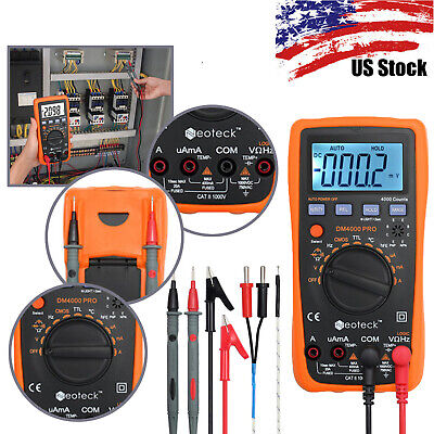 Digital Multimeter Auto Range Acdc Resistance Capacitance Test Meter Backlight