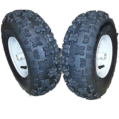 2) 15x5.00-6 15x500-6 Mower off road Go Kart TIREs RIMs can replace 15x6.00-6