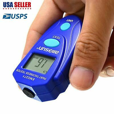 Mini Digital Lcd Car Paint Thickness Gauge Probe Tester Meter Measuring Tool New