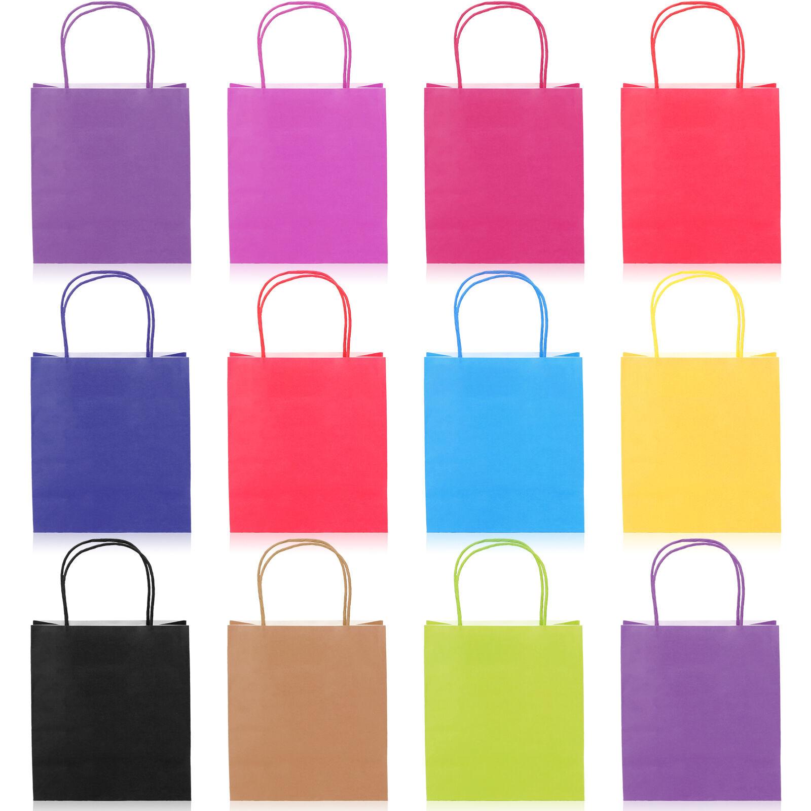 10x sacs cadeau papier cadeaux sachet pochette bijoux rangement 9 couleurs ebay. Black Bedroom Furniture Sets. Home Design Ideas