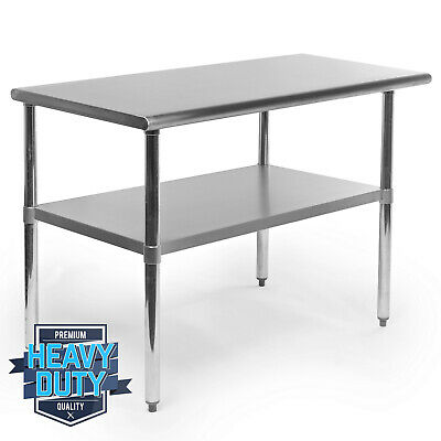 Open Box - Stainless Steel Commercial Kitchen Work Food Prep Table - 24 X 48