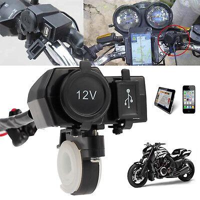 12V Motorcycle Motorbike USB Charger Power Adapter Socket Phone GPS Waterproof