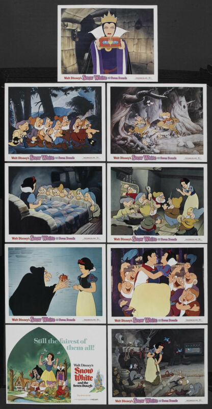 SNOW WHITE AND THE SEVEN DWARFS orig DISNEY 11x14 posters 1975 lobby card set