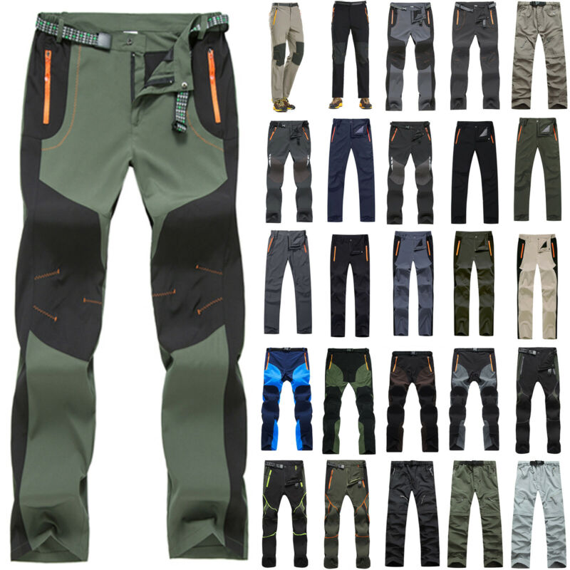 Mens Hiking Climbing Pants Tactical Cargo Combat Work Campin