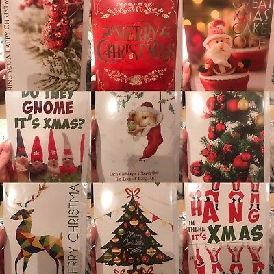 BUNDLE PACK OF 24 CHRISTMAS CARDS BEST QUALITY - 50p PER CARD